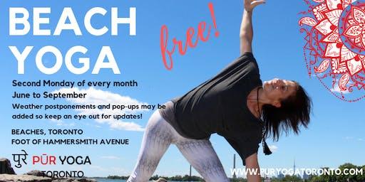 FREE Beach Yoga with PUR YOGA Toronto