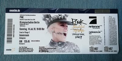 P!nk  Beautiful Trauma World Tour 2019