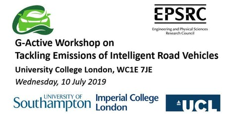 "G-Active Workshop on ""Tackling Emissions of Intelligent Road Vehicles"" tickets"