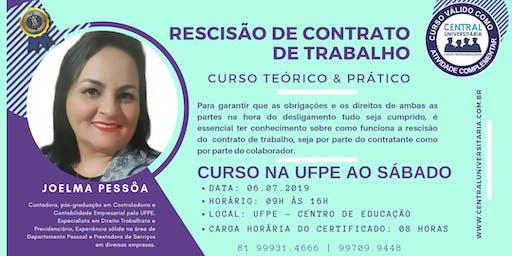 CURSO TEÓRICO & PRÁTICO - RESCISÃO DE CONTRATO DE TRABALHO.