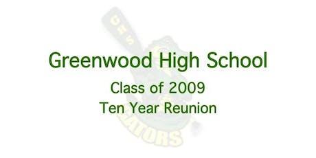 Greenwood High School Class of 2009 - Ten Year Reunion tickets