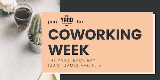FREE Coworking Week @ The Yard: Back Bay