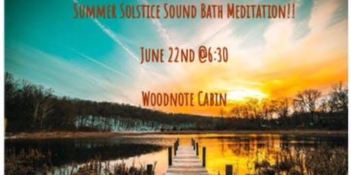 Summer Solstice Singingn Bowls/Gong Sound Bath Meditation