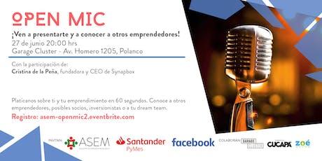 Open Mic 02 con Cristina de la Peña, Synapbox entradas