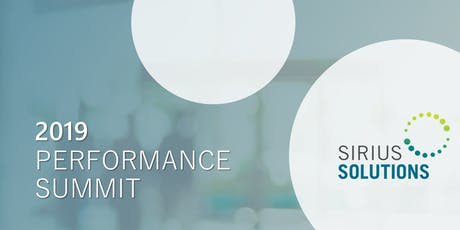 2019 Sirius Solutions Performance Summit tickets