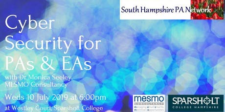 South Hampshire PA Network: Cyber Security for PAs & EAs with Monica Seeley tickets
