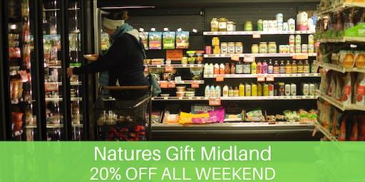 20% Off Natures Gift Organic Market- Huge giveaways