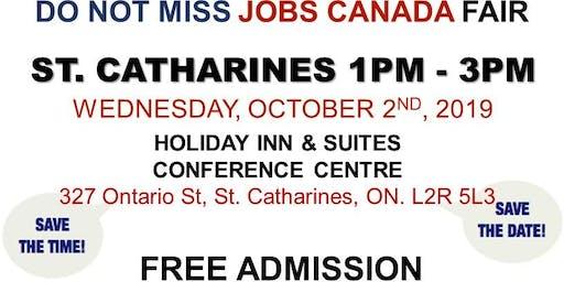 St. Catharines Job Fair – October 2nd, 2019