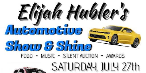 Elijah Hubler's Automotive Show & Shine T-Shirt Order Form!