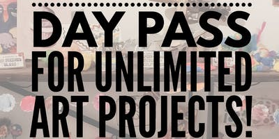 Day Pass for UNLIMITED Art Projects!