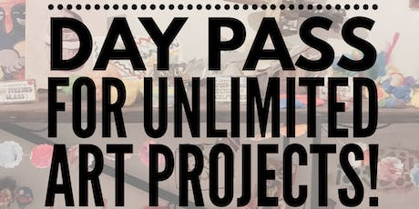 Day Pass for UNLIMITED Art Projects! tickets