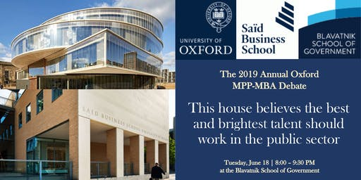 The Annual Oxford MPP-MBA Debate