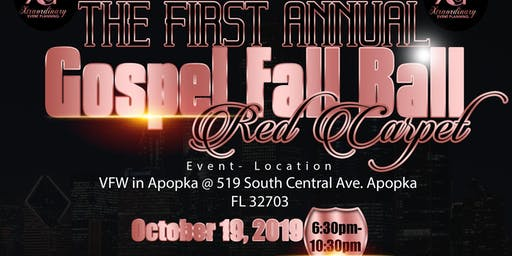 The First Annual Gospel Fall Ball Red Carpet Event