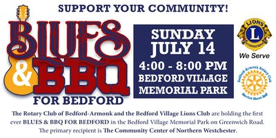 Sponsor Blues & BBQ for Bedford Organized by Rotary & Lions