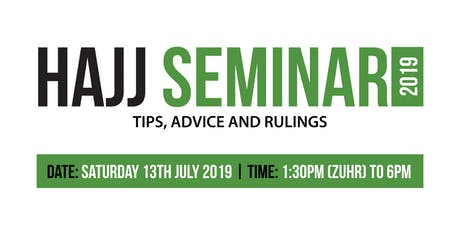 Hajj Seminar 2019 tickets
