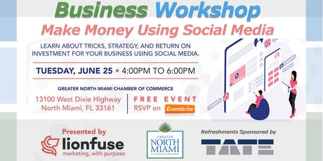 LEARN ABOUT TRICKS, STRATEGY & ROI for your Business using SOCIAL MEDIA tickets