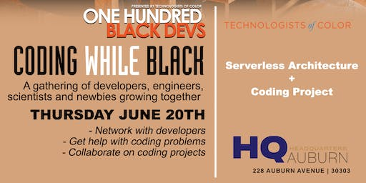 Coding While Black - June 2019