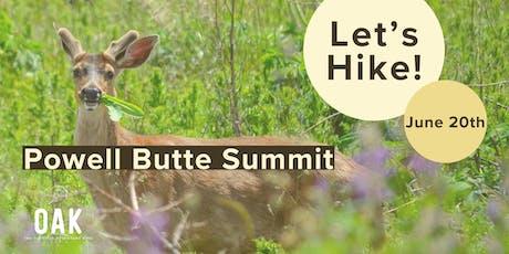 OAK Hike - Powell Butte Summit Loop tickets