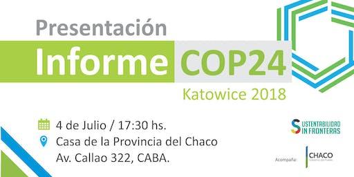 Presentación Informe COP24 Cambio Climático