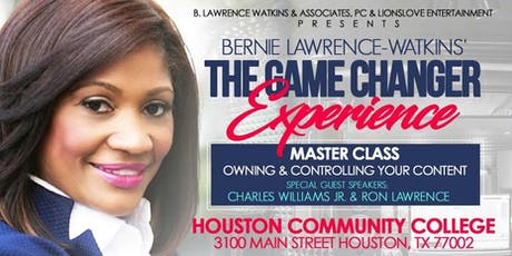 Houston, Texas Master Class: Owning & Controlling Your Content tickets