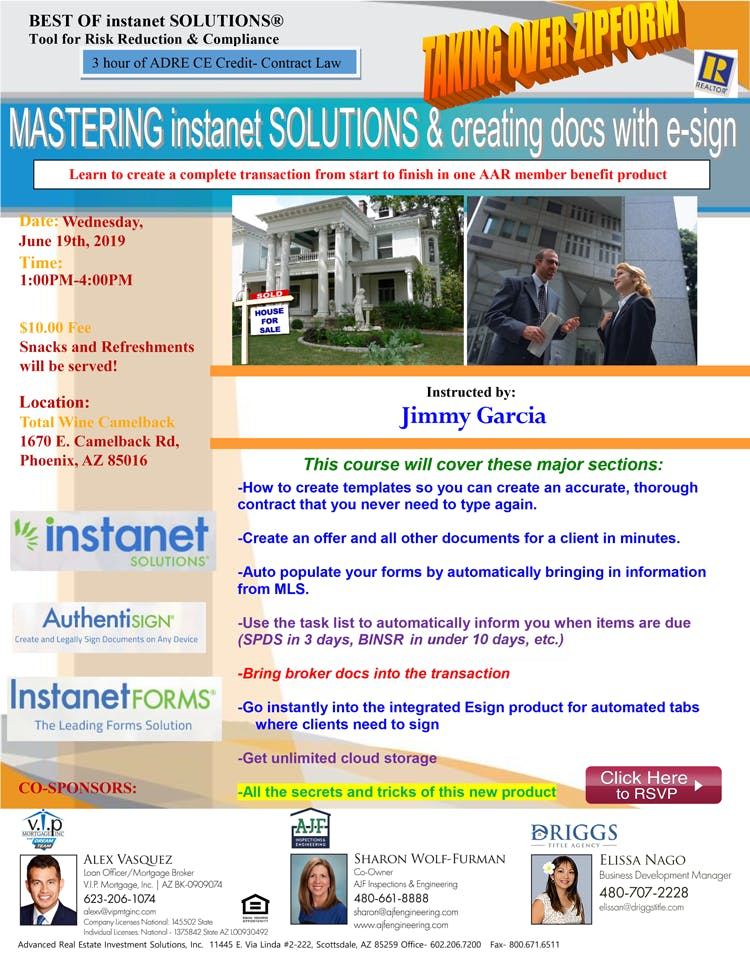 ByeBye Zipforms: Mastering Instanet Solutions CE class