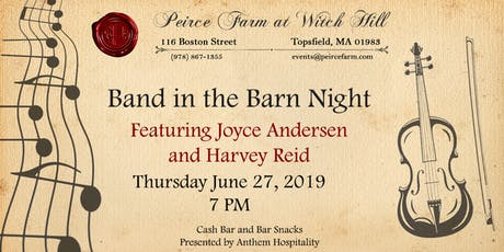 Band In The Barn Music Night at Peirce Farm tickets