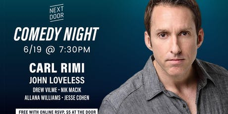 Comedy Night with Carl Rimi from Comedy Central tickets