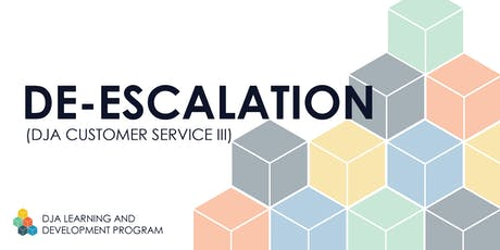 De-Escalation (DJA Customer Service III) 7/30 - Kent tickets