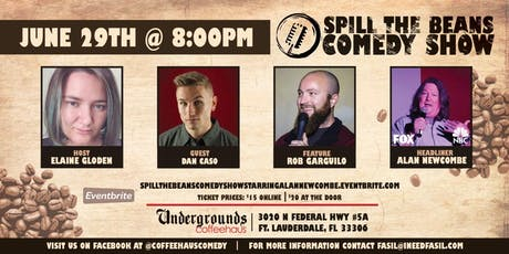 Spill the Beans Stand Up Comedy Show- Alan Newcombe (FOX & CBS) tickets