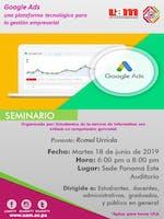 Seminario: Google ads una plataforma tecnológica para la gestión  empr.