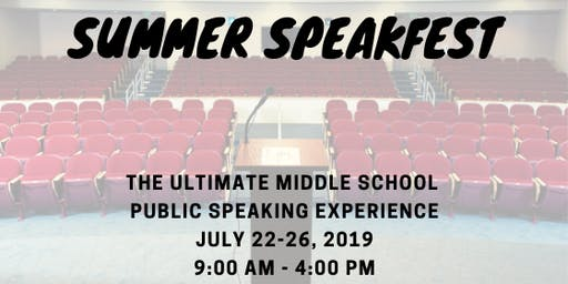 Summer SpeakFest for Middle Schoolers