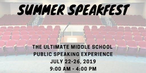 Summer SpeakFest for Middle Schoolers
