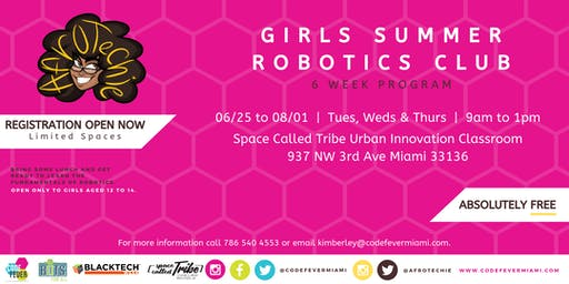 AfroTechie Girls Summer Robotics Club at Tribe