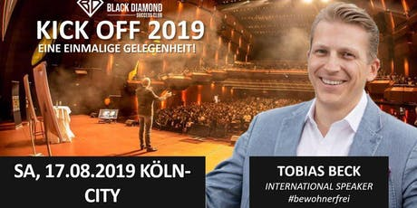"""Firmenevent mit Gastspeaker Tobias Beck-"""" Mr-Bewohnerfrei""""am 17.08. in Köln Tickets"""