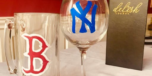 Wine & Beer Glass Painting