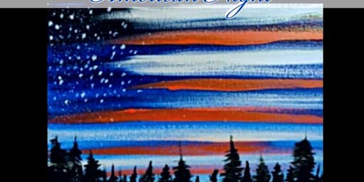 Paint and Pour American Night