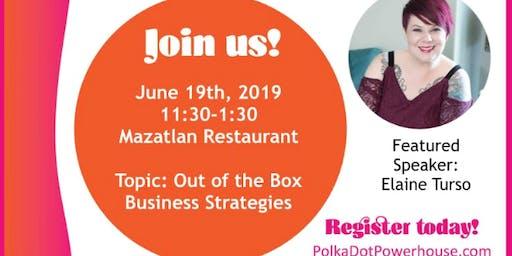 June 2019 Rainier Foothills Chapter of Polka Dot Powerhouse Meeting