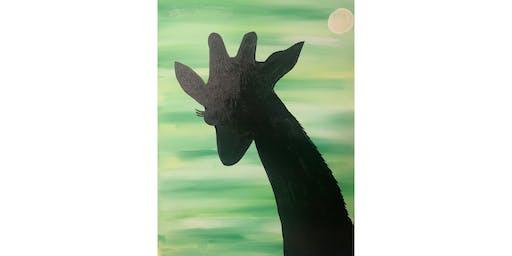 """Adult Open Paint (18yrs+) """"Giraffe Silhouette"""""""