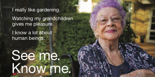 See me. Know me. A live exploration of ageing