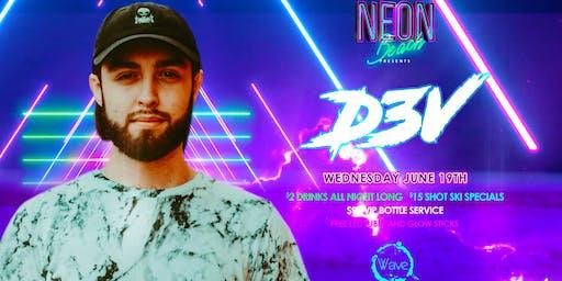 D3V Neon beach Wednesday's $2 drinks all night