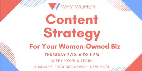 Content Strategy for Your Women-Owned Biz tickets