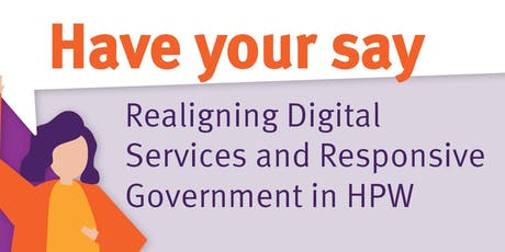 Realigning Digital Services and Responsive Government - Q&A session tickets