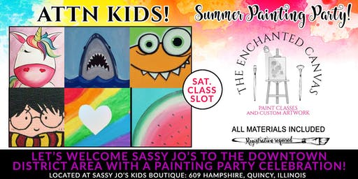 Saturday KIDS Paint Party at Sassy Jo's Boutique