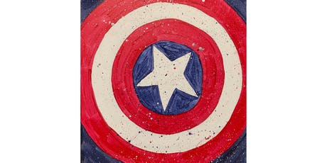"""Open Paint (10yrs+) """"Captain America"""" tickets"""