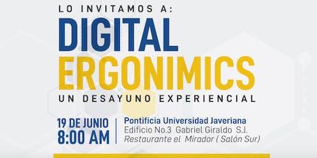 Digital Ergonomics, un desayuno experiencial tickets