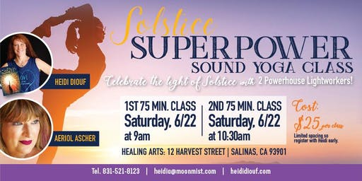 Solstice Superpower Sound Yoga Class