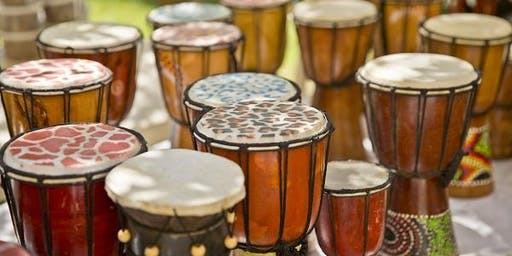 BLAST OFF with African Drumming featuring Mayukwa Kashiwa