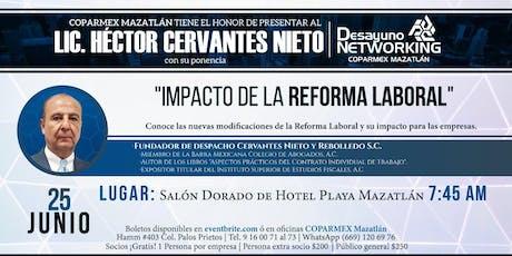 Desayuno de Networking con Lic. Héctor Cervantes tickets
