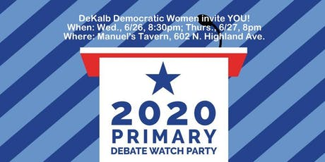 Watch Parties for the First Democratic Presidential Primary Debates tickets