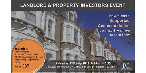 Landlord & Property Investors  - Supported Housing Event
